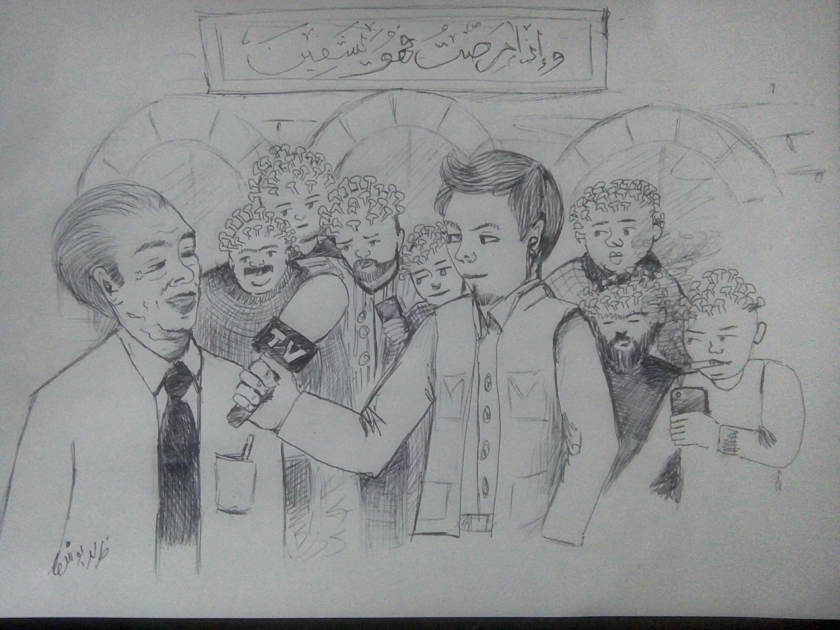 كورونا الاردن : كاريكاتير
